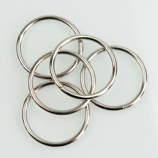 "10X 1.57"" Nickel Non Welded Metal Round O Ring for Bags Key Chains Key Rings SYJ"
