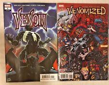 LOT OF 2 VENOM MARVEL COMICS VENOM #1 CATES & VENOMIZED #1 VF/NM TOM HARDY MOVIE