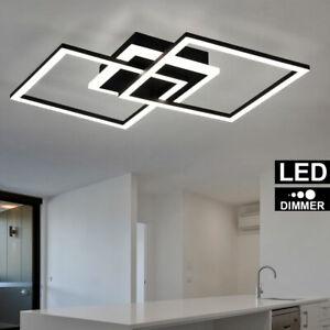 Luxus LED Decken Lampe Ess Zimmer Leuchte Küchen Strahler Schwarz matt DIMMER