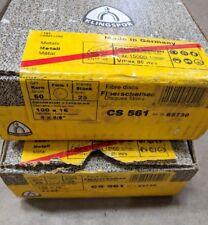 CLEARANCE!! Klingspor CS561 100mm 60grit Fibre Discs x 2 boxes (50 discs)