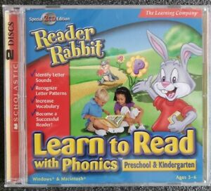 Reader Rabbit Learn to Read with Phonics (Preschool and Kindergarten) NEW SEALED