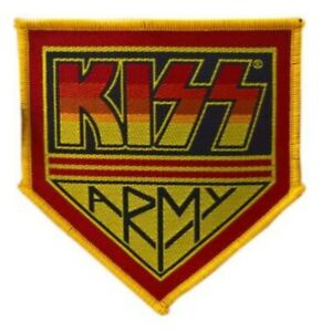 KISS - KISS ARMY Patch Aufnäher Glam Hard Rock Kult 70 Heavy Metal Kutte Wacken