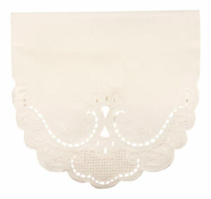 Chairback Cut Lace Effect Antimacassar Furniture Protector Cover Scalloped Edge