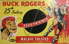Vintage 1950's Remco Buck Rogers Walkie Talkie Communications Outfit Set In Box!