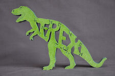 Green T-Rex Dinosaur Wood T Rex  Puzzle Amish Made Scroll Saw Toy