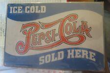 pepsi cola metal man cave sign 30 by 20 cm