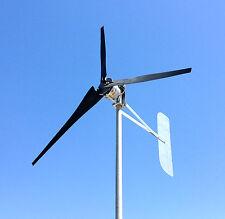 ULTRA LOW WIND Turbine Generator 1000 Watt 3 BLACK Blade 48 DC 2-WIRE  3.75 kWh