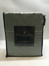 Full Size Fieldcrest Satin Stitch Damask 500ct Sheet Smoke Green