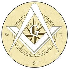 "Masonic Free Mason Compass Vinyl Decal Sticker Car Truck Temple Freemason 4"""