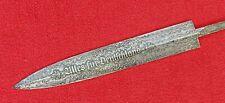 GERMAN DAGGER  BLANK BLADE HAND FORGED DAMASCUS STEEL