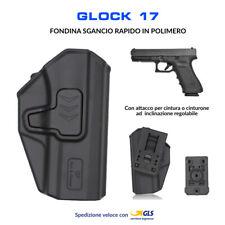 Fondina in Polimero per Glock 17 sgancio rapido cintura polizia militare