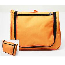 Travel Toiletry Makeup Travel Hanging Hook Wash Shower Bag Kit Case pouch Orange