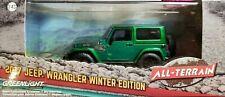 Greenlight RARE CHASE Green Machine 86151 2017 Jeep Wrangler Winter 1:43 Scale