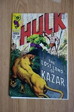 Marvel Incredible Hulk #109 (Nov,1968) Ka-Zar appearance