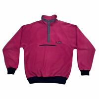 Berghaus Popper Fleece   Vintage 90s Designer Retro Outdoor Clothing Pink VTG