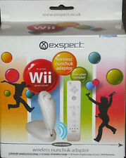 Exspect Nintendo Wii Wireless Nunchuck Adapter NEW