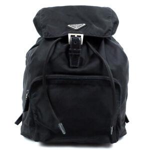 PRADA Backpack Triangle Logo Nylon Black Backpack