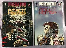 Predator vs Magnus Robot Fighter #1 #2 (1992) Dark Horse Valiant Comics~Nm~Set