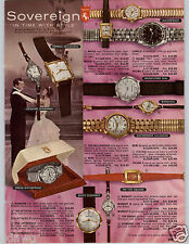 1962 PAPER AD 3 PG Sovereign Wrist Watch Terry Tell Time Charm