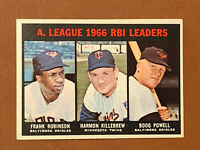 1967 Topps AL RBI Leaders Frank Robinson Killebrew Powell Card #241 NM-MT Nice