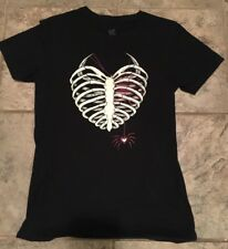 AJ Lee Women's Shirt (M) Black Ribcage Spider Your Last Breath Authentic WWE