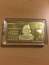 MAKE OFFER~ 1 Zimbabwe 100 Trillion Dol.($)Gold Foil Plated Bar(GOLD BAR INGOT)~