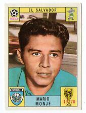 Panini Mexico 70 1970 Original Mario Monje El Salvador Green Back Excellent