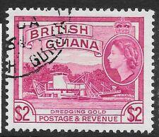BRITISH GUIANA SG365 1963 $2 REDDISH MAUVE USED