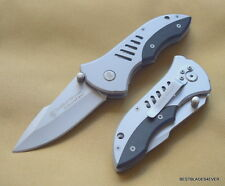 """SMITH & WESSON EXTREMEOPS LINERLOCK FOLDING KNIFE 4.5"""" CLOSED WITH POCKET CLIP"""