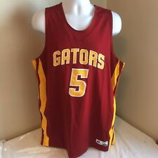 Russell Athletic Basketball Jersey Dri-Power Maroon Gators #5 Stitched Large Usa