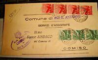 Gionni Gestempelt Demokratische Cent. 80 Stripe von 4 + L.1 Stripe 3 - 19.8.47