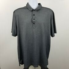 Travis Mathew Mens Charcoal Gray Adult S/S Polo Shirt Sz XL