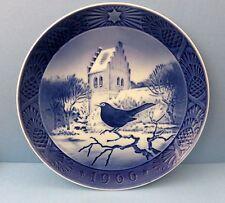 Royal Copenhagen Collector's Plate 1966 Blackbird at Christmas Time, Kai Lange