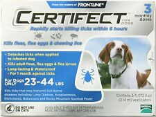 3 monthly doses Merial Frontline Certifect Flea and Ticks Dog 23- 44 lbs Blue