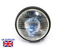 "Headlight for Streetfighter Project Motorbike 7.7"" Matt Black Steel 12v 55W H4"