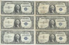 Lot of 6 - $1.00 Silver Certificates + 1935 + No Reserve!