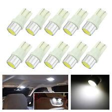 10x White T10 W5W COB LED RV Trailer Truck Interior Light License Plate Lamp 12V