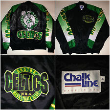 "Vtg BOSTON CELTICS ""Arena"" CHALK LINE FANIMATION Jacket Size XL Bird Starter EUC"