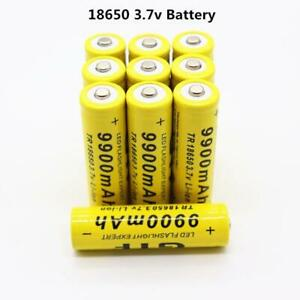 2-10 pcs Battery 3.7V 9900mAh Rechargeable Liion Battery For Power Bank