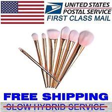 7Pcs Soft Powder Contour Makeup Brush Set Foundation Eyeshadow Lip Blush Brushes