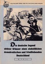 Deut. juventud activa constructores encuesta. demokr./pacíficos alemán. FDJ RDA GDR