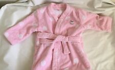 INFANT GIRLS  CARTER'S BATH ROBE PINK POLKA DOTS terry cloth 0-9 MONTHS