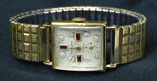 Ultra Rare Vintage Swiss Delbana Hawthorne Watch, Solid 14k +10k Kreisler Band