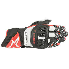 Alpinestars Gp Pro R3 Motorcycle Sports riding Gloves Black White & Bright Red