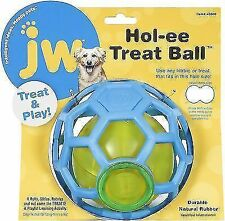 2 X JW Hol-ee Dog Treat Ball Durable Rubber Dispenser Interactive Puppy Toy