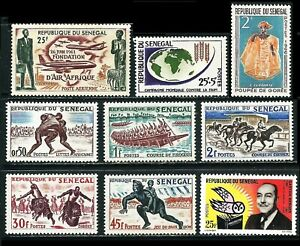 SENEGAL 1961/66: Sport, AIR AFRIQUE, Nahrung, Gaston kpl. + Goree **/* (F900)