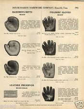 1924 PAPER AD Reach Baseball Glove Eddie Collins Chic Galloway Pat Duncan