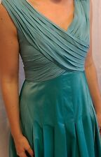 Adrianna Papell Turquoise Formal Plunge Dress Size 6 Evening Dress Long Wedding