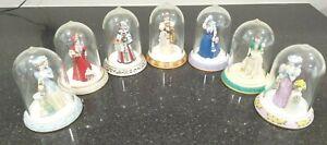 Avon Mrs. Albee Award Porcelain Miniature Figurines Lot Of 7 1995-2001