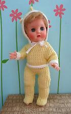 "Vintage Block Baby 10.5"" Hard Plastic Bend Knees Vinyl Head Littlest Angel Pal"